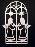 Due angeli. Taglio di carta Fotografie Stock