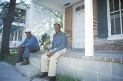 Due anziani del African-American Fotografie Stock Libere da Diritti