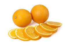 Due arancio e segmenti arancio. Fotografia Stock Libera da Diritti