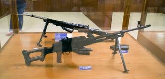 Due arma del segno I di Bren Machine Gun 303 con le riviste su esposizione al hall of fame, Leh Immagine Stock Libera da Diritti