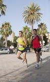 Due athletas Fotografie Stock Libere da Diritti