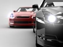 Due automobili Fotografie Stock