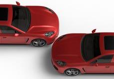 Due automobili rosse Immagini Stock