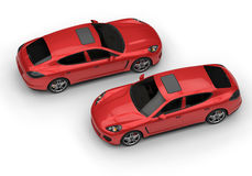 Due automobili rosse Fotografie Stock