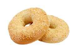 Due bagel fotografia stock