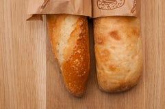 Due baguette, francese ed italiani Fotografie Stock Libere da Diritti