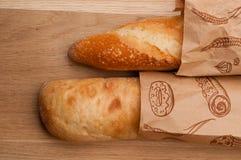 Due baguette, francese ed italiani Immagini Stock