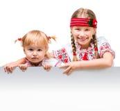 Due bambine nel costume nazionale ucraino Fotografia Stock