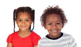 Due bambini africani adorabili fotografia stock