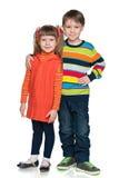 Due bambini sorridenti di modo immagini stock libere da diritti