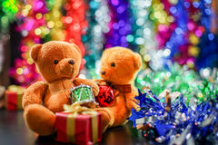 Due bambole dell'orso Fotografie Stock