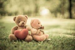 Due bambole dell'orso Fotografie Stock Libere da Diritti
