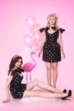 Due bambole rosa Immagini Stock Libere da Diritti