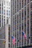 Due bandiere americane Immagine Stock