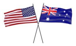 Due bandiere attraversate Immagine Stock Libera da Diritti
