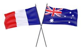 Due bandiere attraversate Immagine Stock