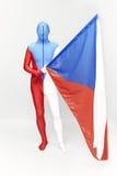 Due bandiere ceche differenti Fotografie Stock Libere da Diritti
