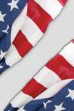 Due bandiere del tessuto degli Stati Uniti Fotografie Stock Libere da Diritti