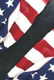 Due bandiere del tessuto dell'America con una lavagna Immagini Stock Libere da Diritti