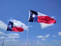Due bandiere del Texas Immagine Stock Libera da Diritti