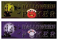 Due bandiere della mazza di Halloween Immagini Stock