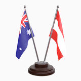 Due bandiere della tavola Immagini Stock Libere da Diritti