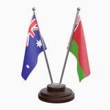 Due bandiere della tavola Fotografia Stock Libera da Diritti
