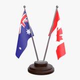Due bandiere della tavola Fotografia Stock