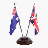 Due bandiere della tavola Immagini Stock