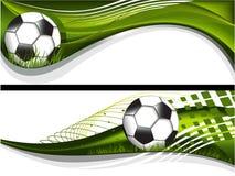 Due bandiere di gioco del calcio Fotografia Stock Libera da Diritti