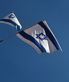 Due bandiere di Israele Fotografie Stock