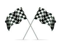 Due bandierine di corsa illustrazione vettoriale