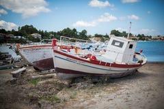 Due barche bianche fotografia stock