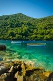 Due barche in Mljet Croazia Fotografia Stock