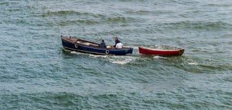Due barche nell'oceano Fotografia Stock Libera da Diritti