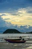 Due barche sulla spiaggia Immagini Stock Libere da Diritti