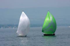 Due barche a vela giranti Immagine Stock Libera da Diritti