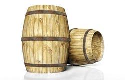 Due barilotti di vino illustrazione vettoriale