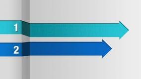 Due barre quadrate della freccia, grafico della casella titolo di introduzione, modello di presentazione di PowerPoint royalty illustrazione gratis