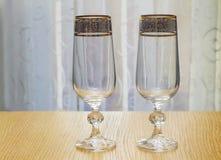 Due bei vetri del vetro Immagine Stock