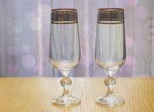 Due bei vetri del vetro Fotografia Stock