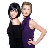 Due belle donne di fascino immagini stock