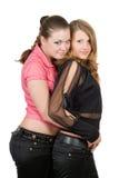 Due belle giovani donne Fotografia Stock