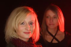 Due belle ragazze Fotografia Stock