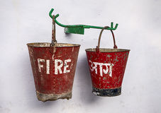 Due benne di fuoco Fotografia Stock