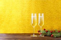Due bevande per il concetto del buon anno fotografia stock