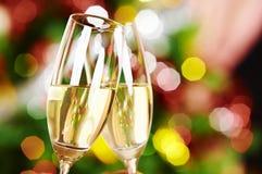 Due bicchieri di vino Immagine Stock