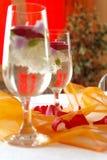 Due bicchieri di vino eleganti Immagine Stock