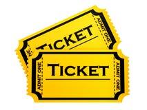 Due biglietti Fotografie Stock