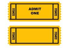 Due biglietti Immagine Stock